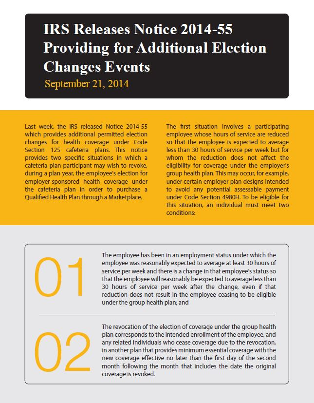 Providing for Additional Election Changes Events