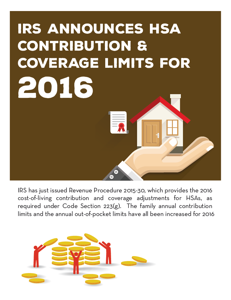 IRS Announces HSA Contribution & Coverage Limits for 2016