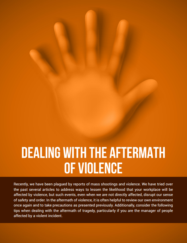Dealing with the Aftermath of Violence