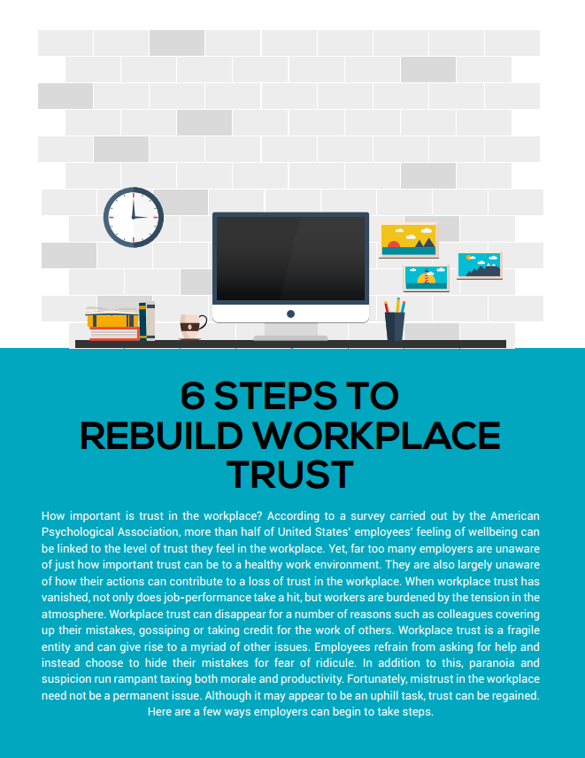 6 Steps to Rebuild Workplace Trust