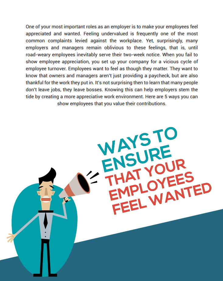 Ways to Ensure that Your Employees Feel Wanted
