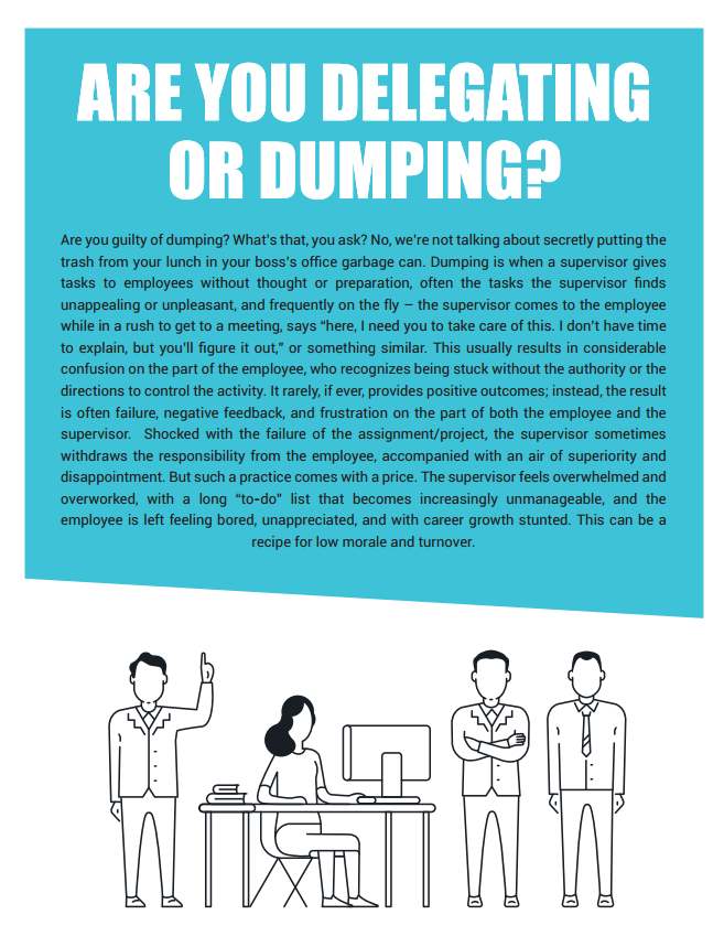Are you Delegating or Dumping?
